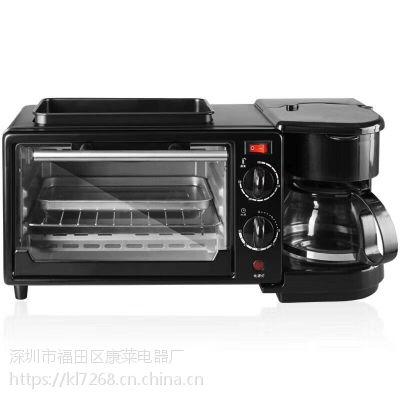 中山厂家直销家用电烤箱3合1早餐机多功能烤箱面包机烘焙礼品
