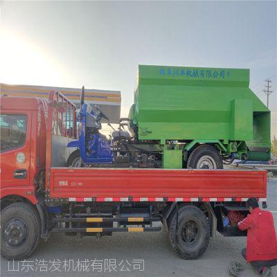 电动三轮喂牛撒料车 广西山坡上为牛羊用柴油撒料车
