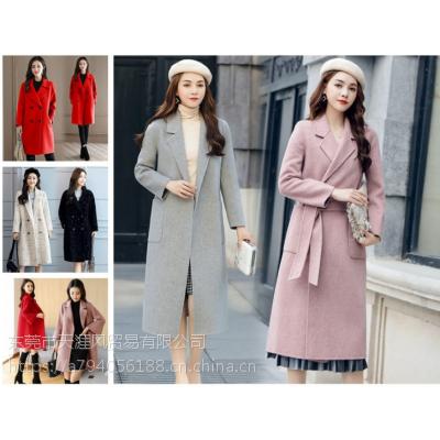 便宜中长款毛呢外套女装呢子大衣清货便宜时尚女士外套库存服装清羊绒大衣