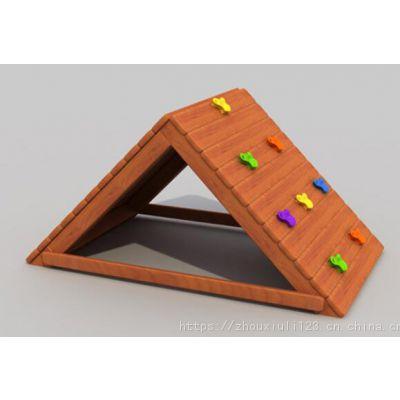 幼儿园 黄花梨木质荡桥 儿童实木攀爬架感统训练户外组合滑梯玩具