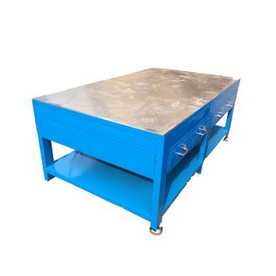 电木板钢板工作台、模具组装台加厚钢板桌面