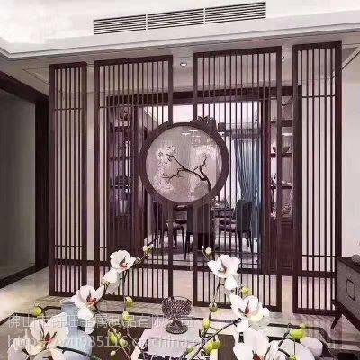 中式屏风隔断墙卧室玄关现代客厅酒店餐厅 座屏定制