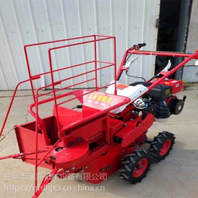 9马力汽油玉米收割机 四轮拖拉机前置玉米收获机