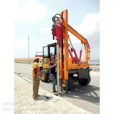 TZ-4100装载式护栏打拔钻一体机公路护栏打桩机价格