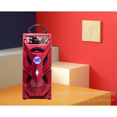 Musiccrown工厂直销爆款木质手提蓝牙音箱 时尚广场舞音响 户外活动移动音箱