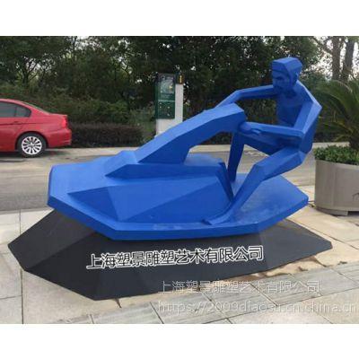 湖北不锈钢彩绘人物雕塑 城市体育运动景观小品定制