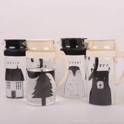 韩国文具 MH1603-320 北欧家族 玻璃水壶 小号 37391