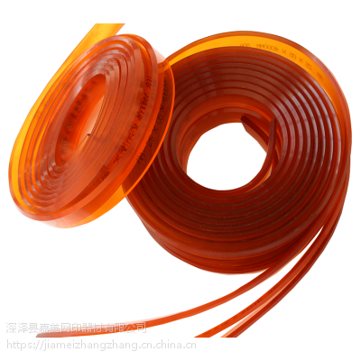 湖北武汉丝印刮胶 红色聚氨酯刮条 75度85度硬刮胶价格(JIAMEI)