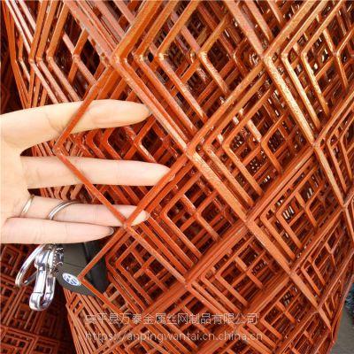 哪里卖菱形钢板网 红色菱形拉伸网 镀锌钢板网厂家