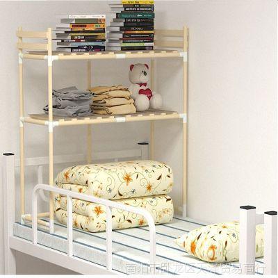宿舍收纳床上衣柜收纳架寝室上铺置物下铺实木储物柜子床上收纳柜