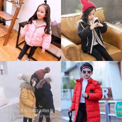 韩国进口童装批发市场实体店韩版童装棉衣羽绒服外套进货微信反季清仓一手童装货源
