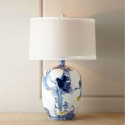 景德镇陶瓷灯具图片中式陶瓷灯具中式陶瓷灯具吸顶灯