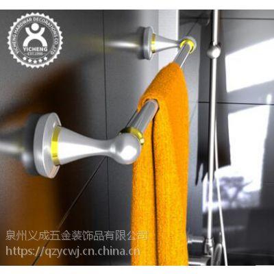 欧式浴室毛巾架毛巾杆单杆免钉管卫生间墙壁铝合金五金挂件