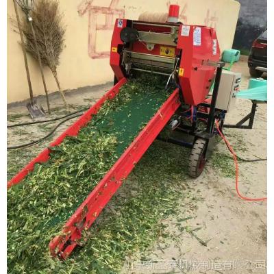 小麦收割打捆机 打捆包膜效果好