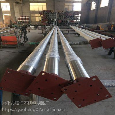 耀恒 锥形304不锈钢旗杆 顺风装置国旗杆生产厂家