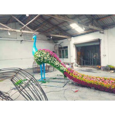 人物立体仿真佛甲草雕塑造型 植物绿雕造型
