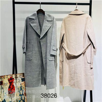 深圳特价女装折扣店羊绒双面尼大衣大码时尚女装进货渠道