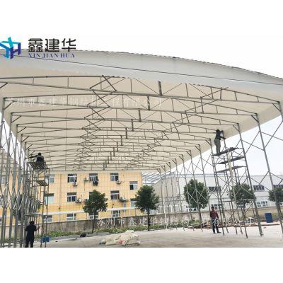 天津市河西区工地大型仓库雨棚布、鑫建华定做挡雨篷遮阳厂家