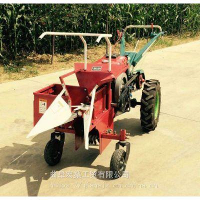 手扶拖拉机玉米收获机 柴油小型单人操作手推玉米收获机