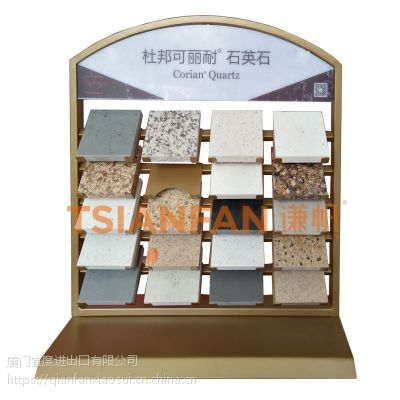 宜度钢材可定做石材展示架 台面展架 石英石小展架 石材桌面架