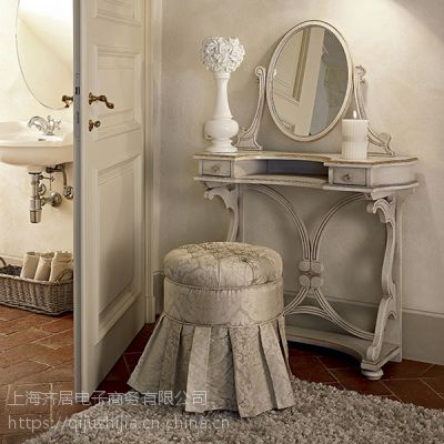 供应齐居置家新款欧式实木梳妆台套装家具