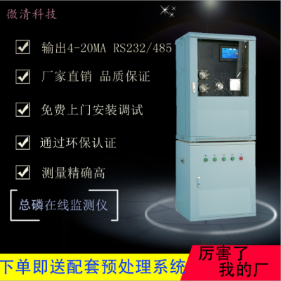 总磷在线分析仪 钼酸铵比色测定 在线监测仪