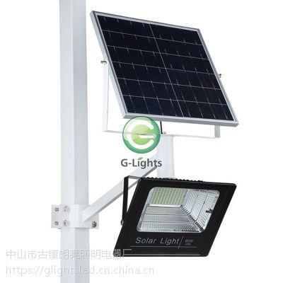 太阳能泛光灯节能改造雷达感应LED分体式太阳能泛光灯.
