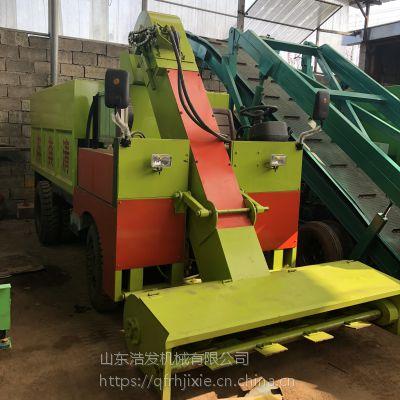 广州牛场清粪车厂家 牛粪自动装车机 浩发清粪车价格