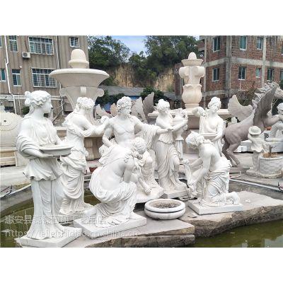 直销石雕美女人物雕像 汉白玉人物雕刻 艺术品雕刻可定制