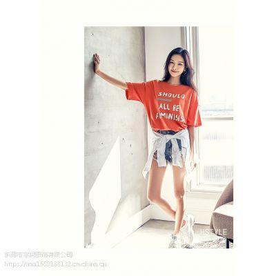 新款女装半袖 小衫批发厂家 宽松女式短袖批发 韩版大板女装小衫