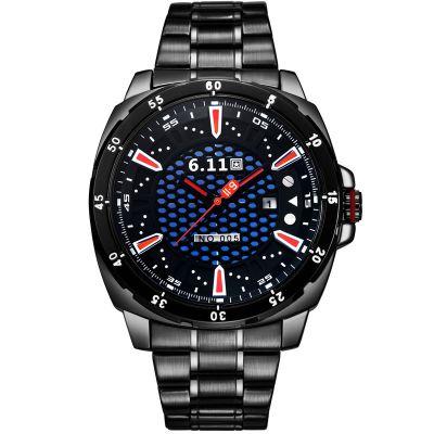 时尚NO-005光波防水节能环保日历光电手表光能手表定制 男士钢带手表厂家批发