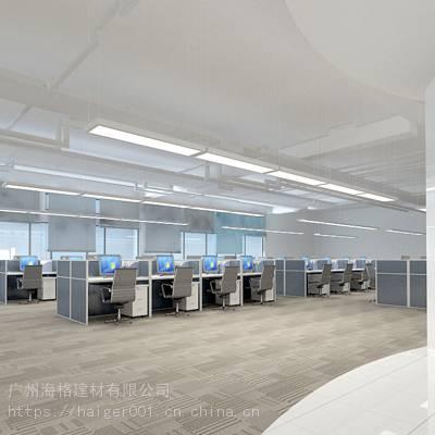 大型公司办公楼层选用广州海格建材有限公司木纹铝方通、铝单板