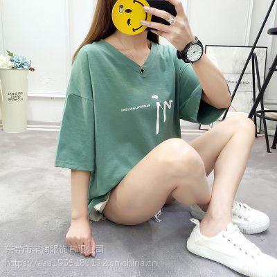 黑龙江女装小衫短袖批发厂家 韩版时尚便宜女装半袖批发货源