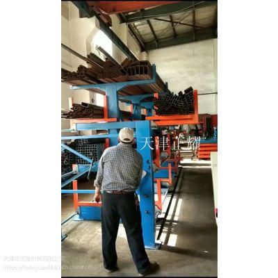 浙江原材料型材货架伸缩式适合型材钢 圆钢 钢轨 槽钢 管材 棒料 轴