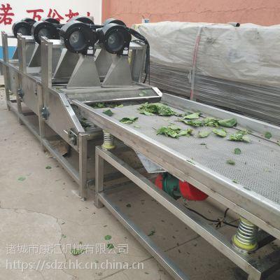 康汇牌山楂沥水风干机 果蔬翻滚沥水风干线 多次物料翻转 全方位去除水