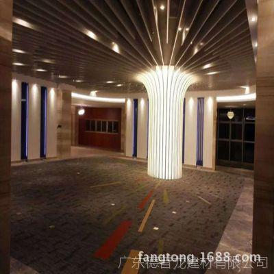 浙江嘉兴弧形铝方通厂家直销 供应按摩养生会所铝合金板吊顶定制