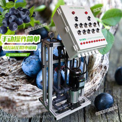 凉山施肥机安装 四川蓝莓基地滴灌水肥一体化方案手动可控电磁阀