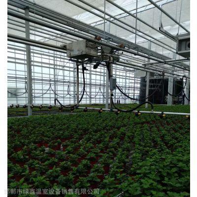 绿鑫喷灌机、温室喷灌机、温室洒水车、自动喷灌机、温室双轨喷灌机、智能型温室喷灌机、大棚喷灌设备