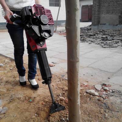带土球苗木移植机 汽油铲式起苗机 苗木断根挖树机
