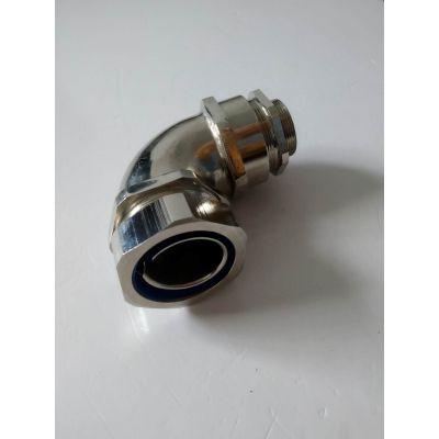 供应洛阳M25*1.5 不锈钢90度弯头 连接防爆金属软管的304直角防水弯头福莱通品牌