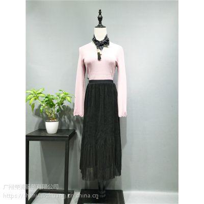 2018春杭州茜可可时尚品牌女装连衣裙折扣批发货源