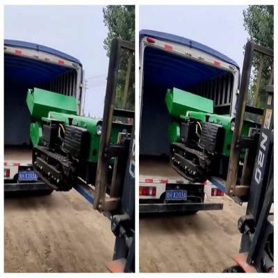 冬季果园施肥机 润华 履带式开沟回填机 多功能管理机