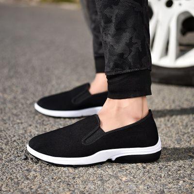 男士布鞋休闲时尚单鞋新款老北京男式休闲软底中国风工作鞋批发