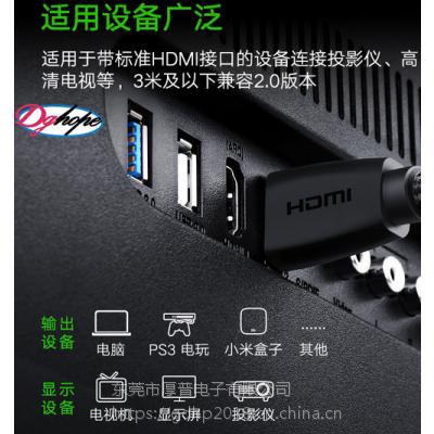 清晰的电视画面需要哪种连接线连接?找厚普HOPE-HDMI线您的