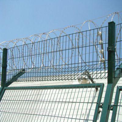 机场护栏网防攀爬刀片刺围栏网 机场防爬网
