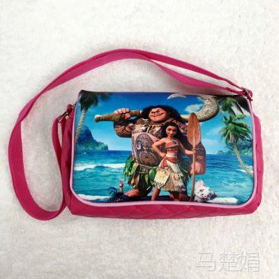 海洋奇缘莫阿娜Moana梦娜公主卡通斜挎方包韩版时尚女童出游包包