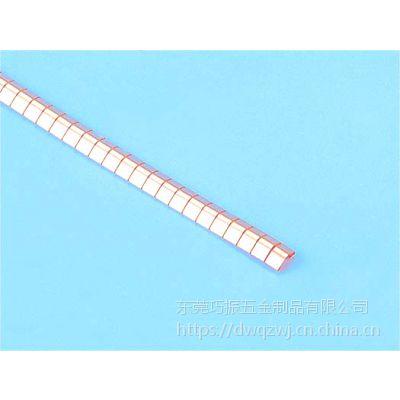 铍铜弹片哪家质量好、巧振五金制品二十年专业生产电磁屏蔽簧片