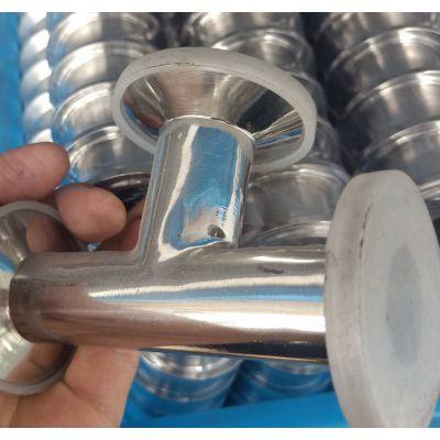 304不锈钢卫生级三通 温州现货供应 304不锈钢镜面抛光三通