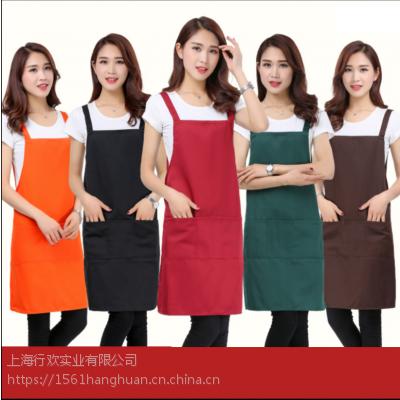 挂脖围裙优质全棉高档围裙订做厂家围裙绣印logo
