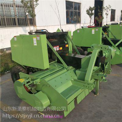 移动式秸秆打捆机 粉碎秸秆收割打包机厂家 玉米秸秆收获捆草机带补贴